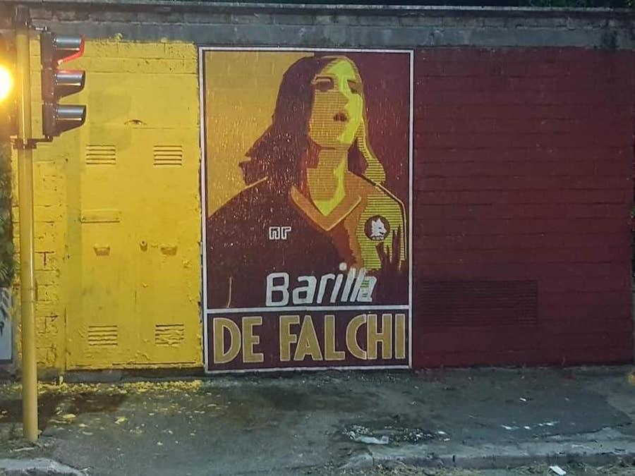 Antonio De Falchi - Murale sotto casa - Curva Sud - ROMA