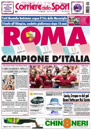 Roma Campione d'Italia - Corriere dello Sport