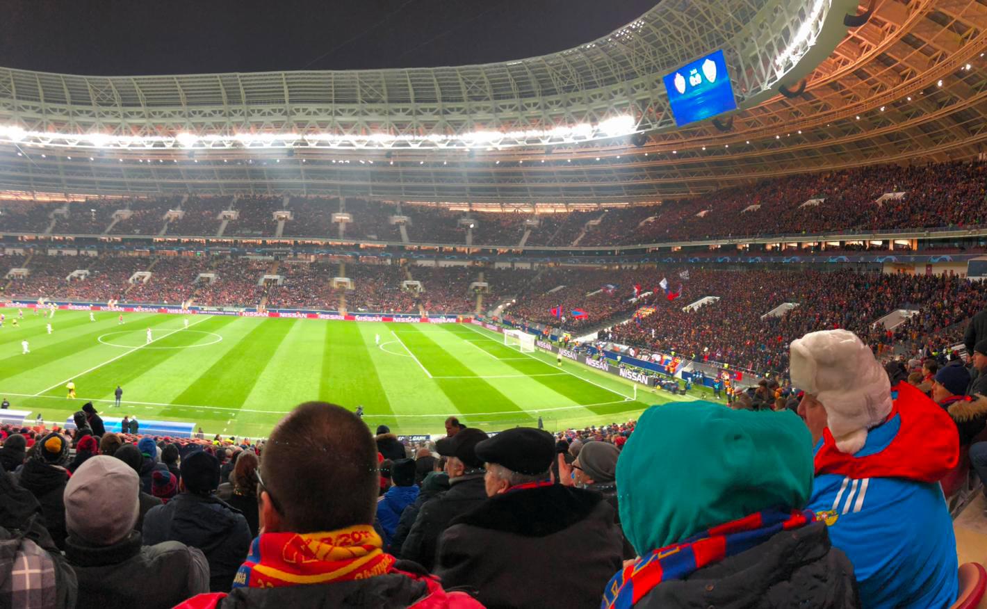 CSKA Mosca - Roma: panoramica dallo stadio