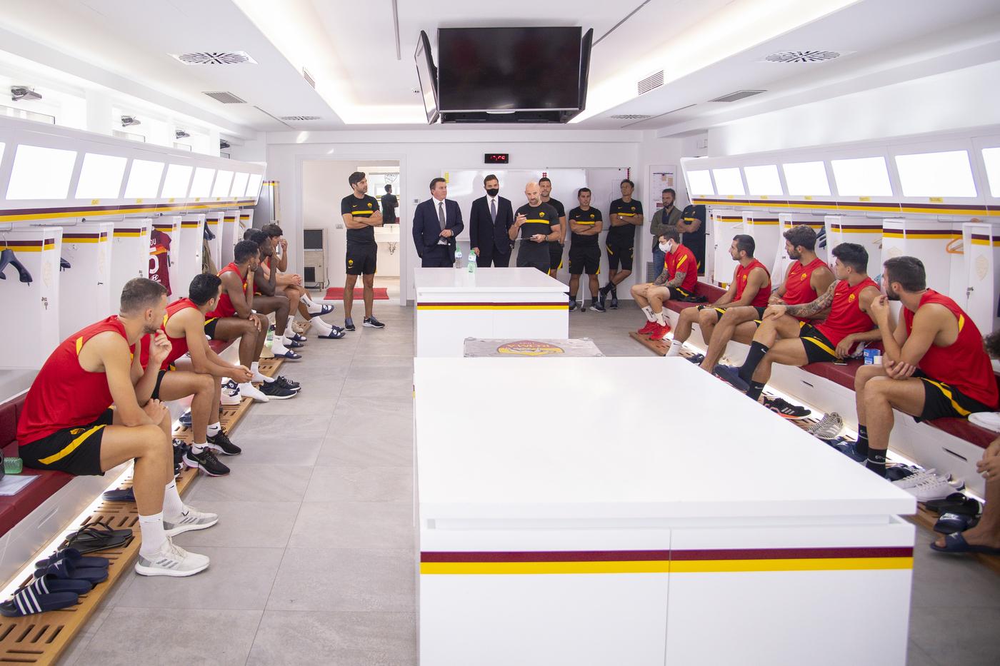 Dan Friedkin a Trigoria con i giocatori della AS Roma