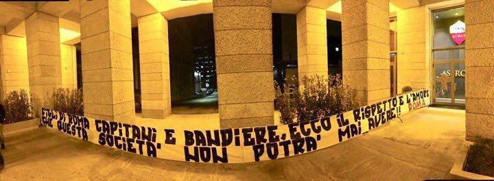 """Figli di Roma, capitani e bandiere, ecco il rispetto e l'amore che questa società non potrà mai avere"""""""