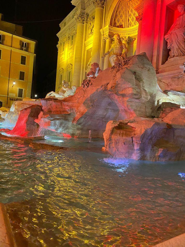Fontana di Trevi - AS Roma - Curva Sud - Compleanno AS Roma