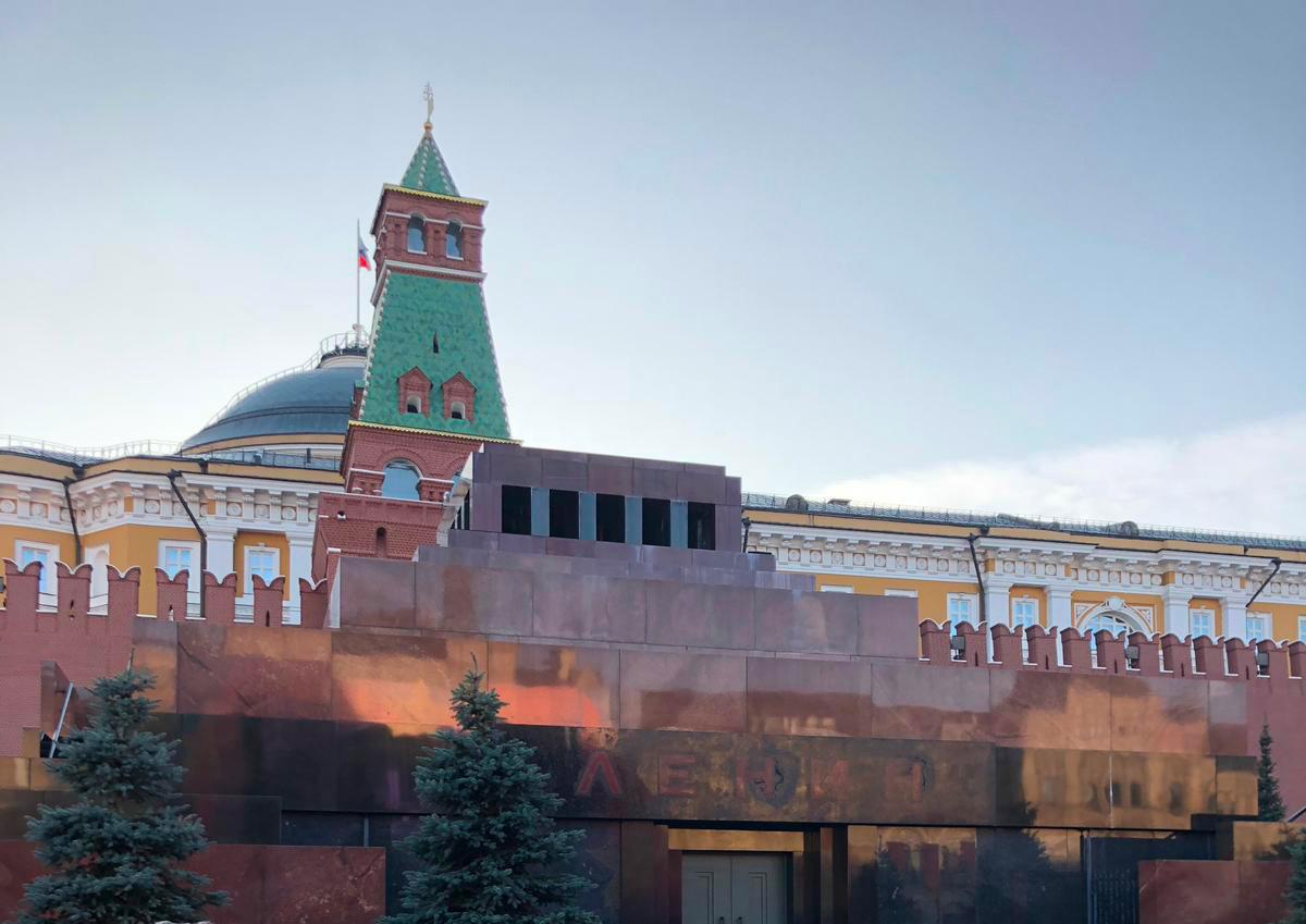 CSKA Mosca - Roma, visita al mausoleo di Lenin