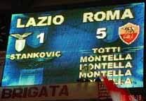 Lazie 1 - Roma 5 - Tabellone