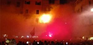 AS Roma: festa per i 90 anni. Più di 2000 tifosi in corteo dal Pantheon a Via degli Uffici del Vicario (FOTO)