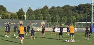 AS Roma: allenamento odierno