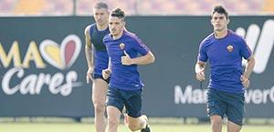 AS Roma - Allenamento mattutino: prima seduta in vista dell'Inter per i giallorossi