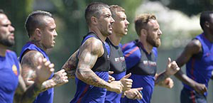 AS Roma - Primo allenamento post Spal