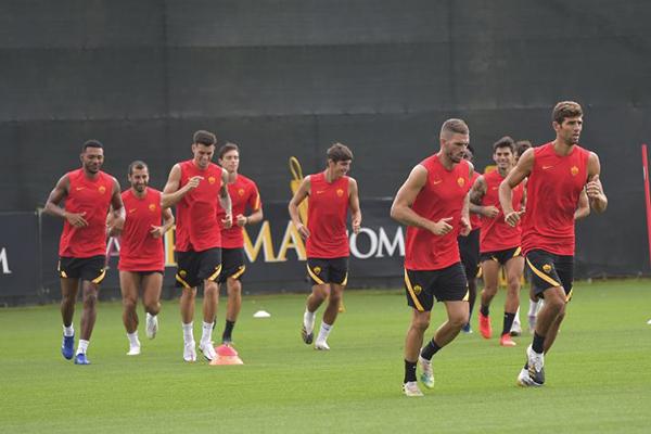 AS Roma – Primo allenamento in vista dello Shakhtar Donetsk