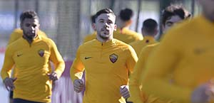 AS Roma – Allenamento: Kumbulla in gruppo