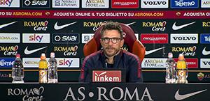 Di Francesco in conferenza stampa: Domani Schick titolare, forse con Edin. Pastore out per infortunio