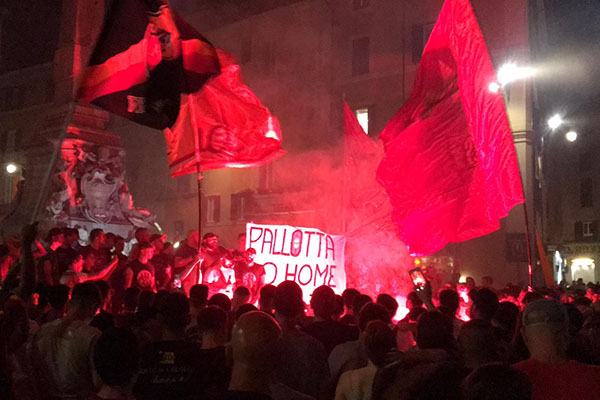 22 luglio: la Curva Sud al Pantheon per il compleanno della AS Roma (Foto e Video)