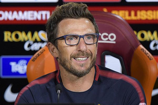 Di Francesco in conferenza stampa: Siamo concentrati solo sull'Atletico, è una partita determinante. Felice di vedere questo spirito di gruppo
