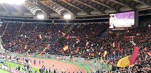 Roma-Lazio: entra in campo la squadra giallorossa (Video)