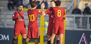 Primavera - Cinquina dell'AS Roma al Genoa