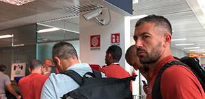 La Roma in partenza per Madrid. Domani l'esordio in Champions League (video)
