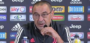 Verso Juventus-Roma - Sarri: Vediamo se schierare l'Under 23 per recuperare un po' di energia