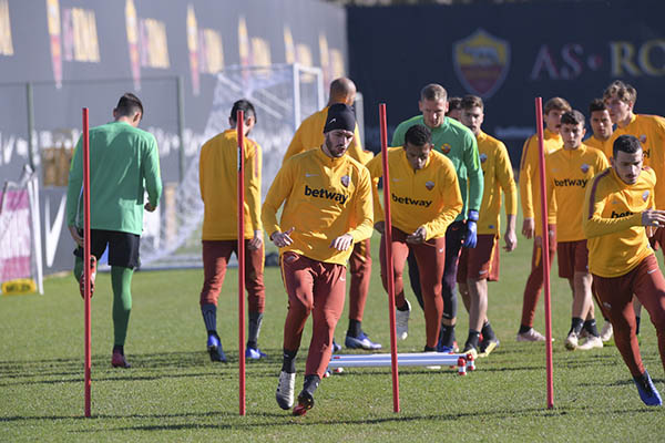AS Roma - Allenamento per gli infortunati