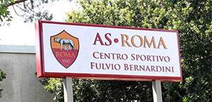 AS Roma - Primo allenamento in vista del Real Madrid