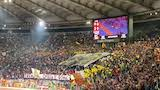 Roma - Milan 2-1: la coreografia della Curva Sud