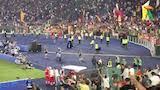 Roma - Sassuolo: Mourinho e la squadra sotto la Curva Sud al gol di El Shaarawy